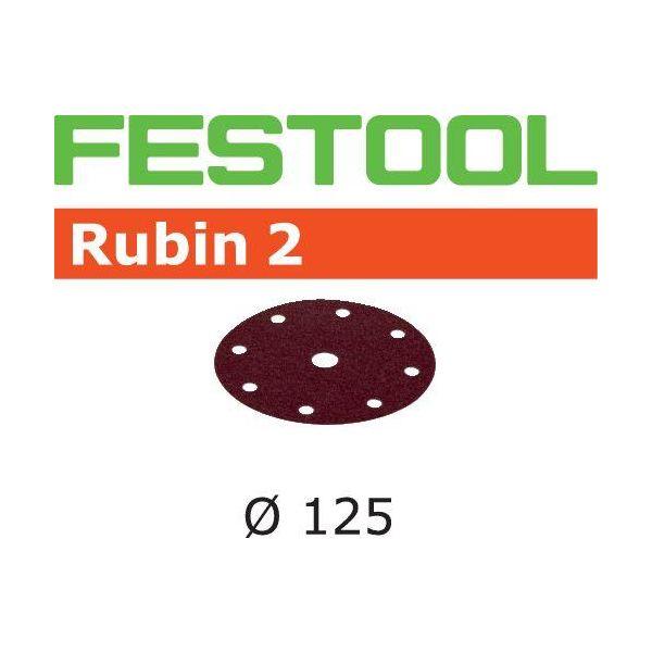 Festool STF RU2 Hiomapaperi 125 mm, 8-reikäinen, 10 kpl P80