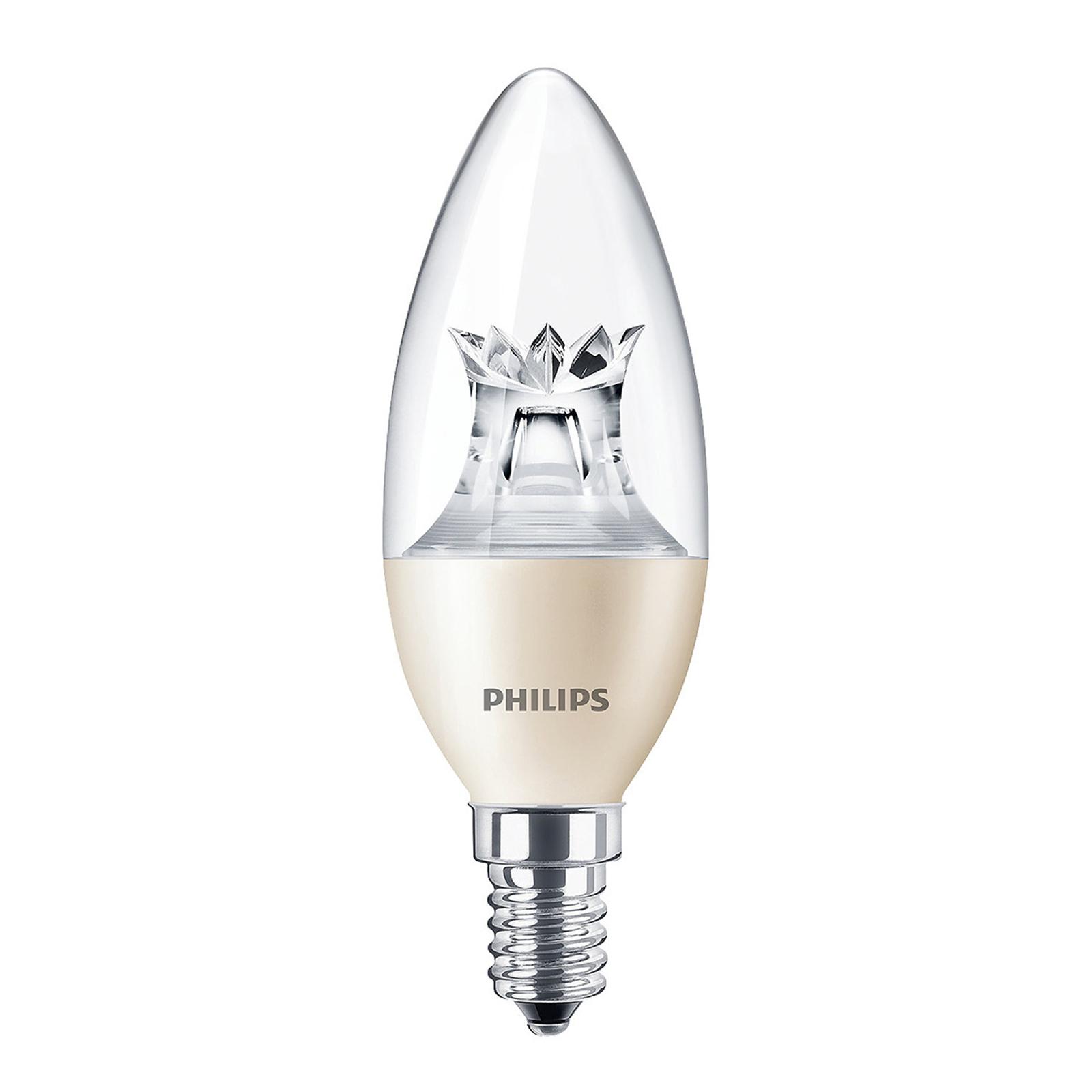 LED-kynttilälamppu E14 8W B40 Candle DT CL DimTone