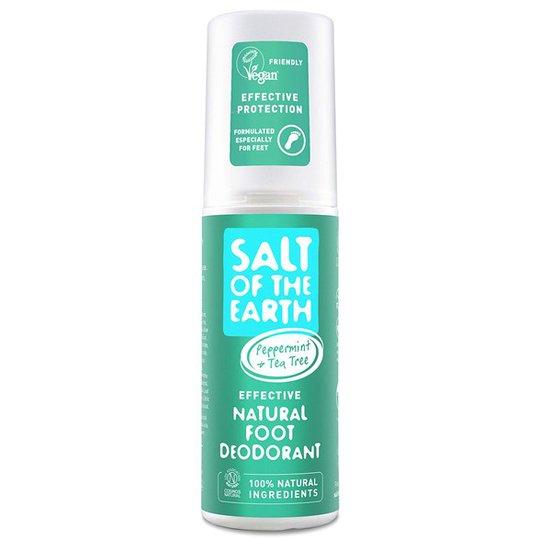 Salt of the Earth Peppermint & Tea Tree Natural Foot Deodorant Spray, 100 ml