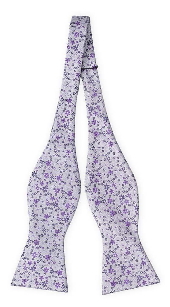 Silke Sløyfer Uknyttede, Støvlilla med små blomster i to lillatoner
