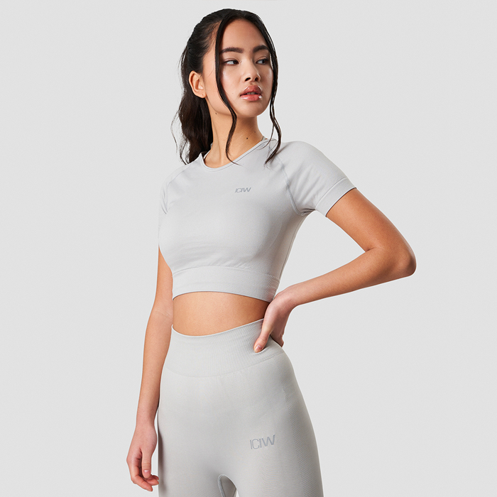 Define Seamless Cropped T-shirt, Light Grey