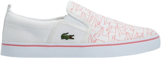 Lacoste Gazon 318 Sneaker, White/Pink 28