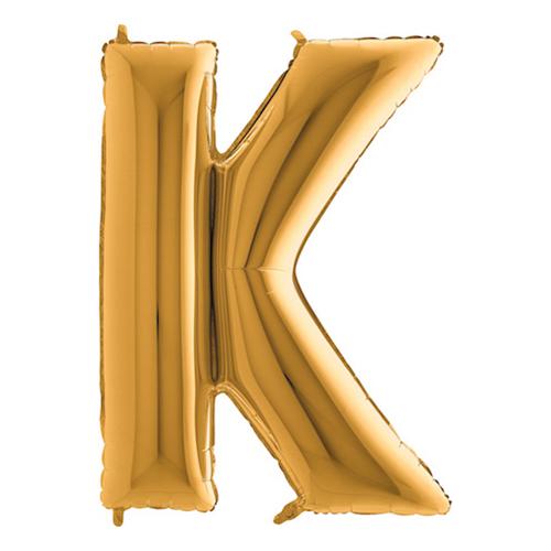 Bokstavsballong Guld - Bokstav K