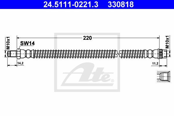 Brake Hose ATE 24.5111-0221.3