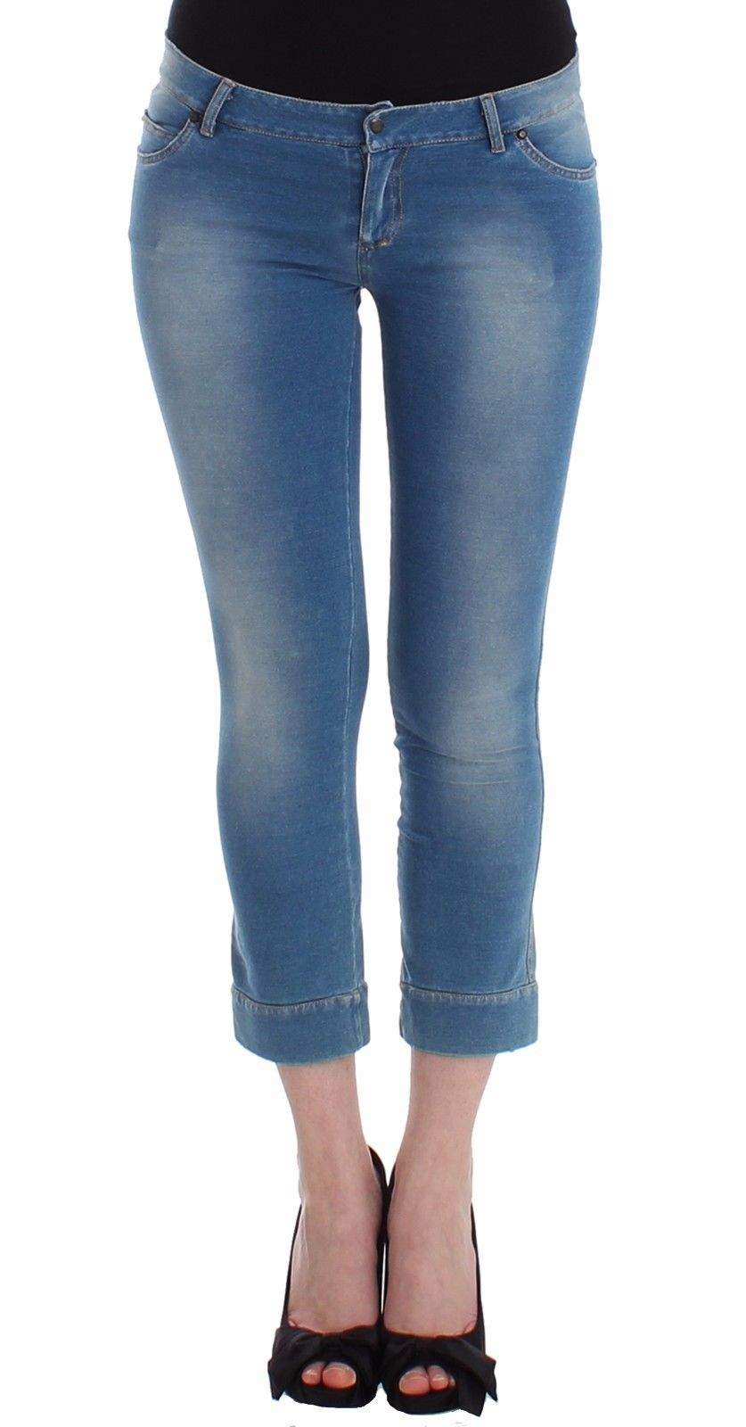 Ermanno Scervino Women's Capri Jeans Blue SIG12454 - IT42 | S