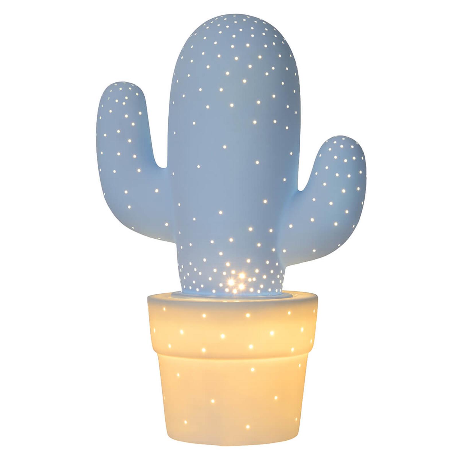 Koristepöytävalaisin Cactus keramiikkaa, sininen