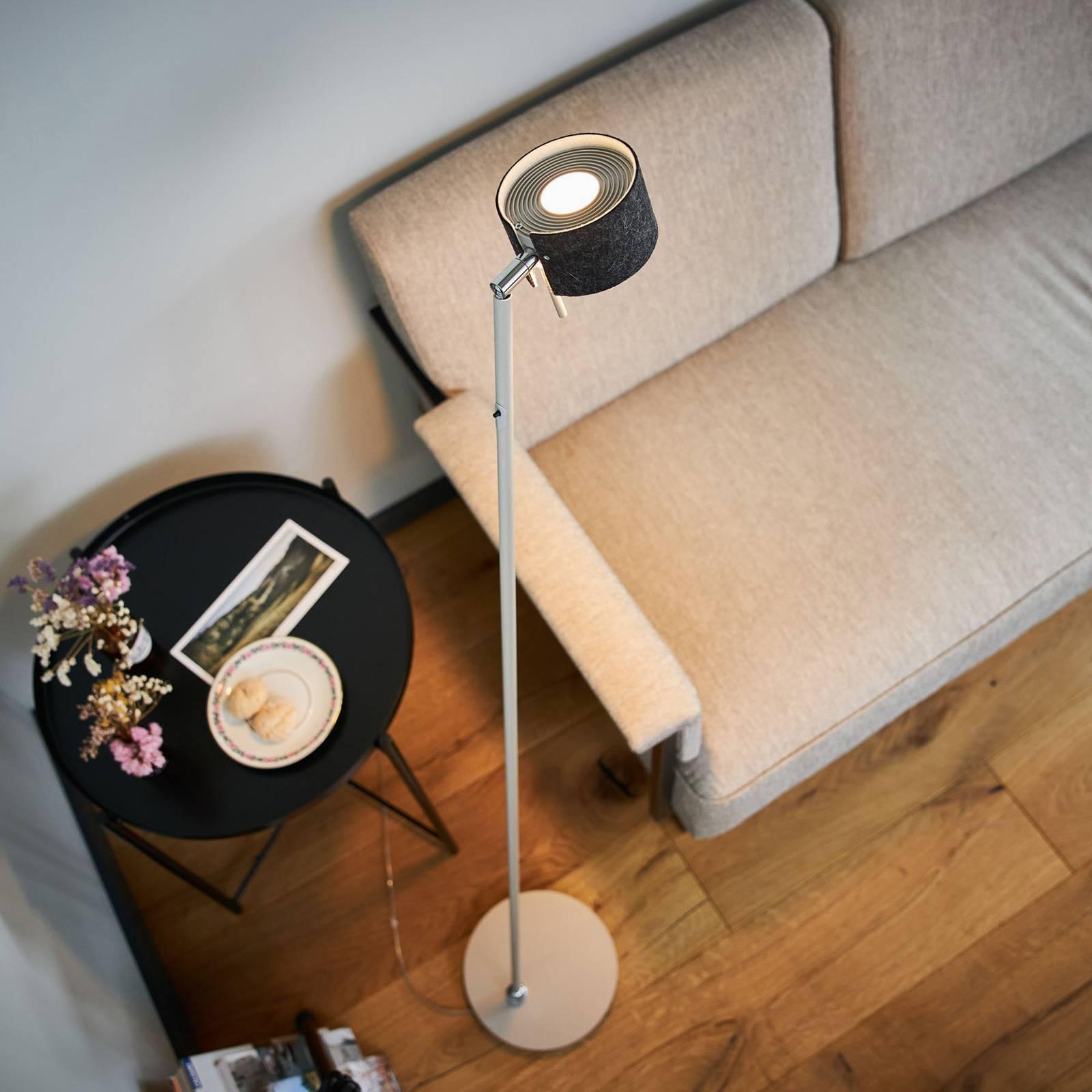 LED-lattiavalo CAI, himmennettävä, grafiitti/villa