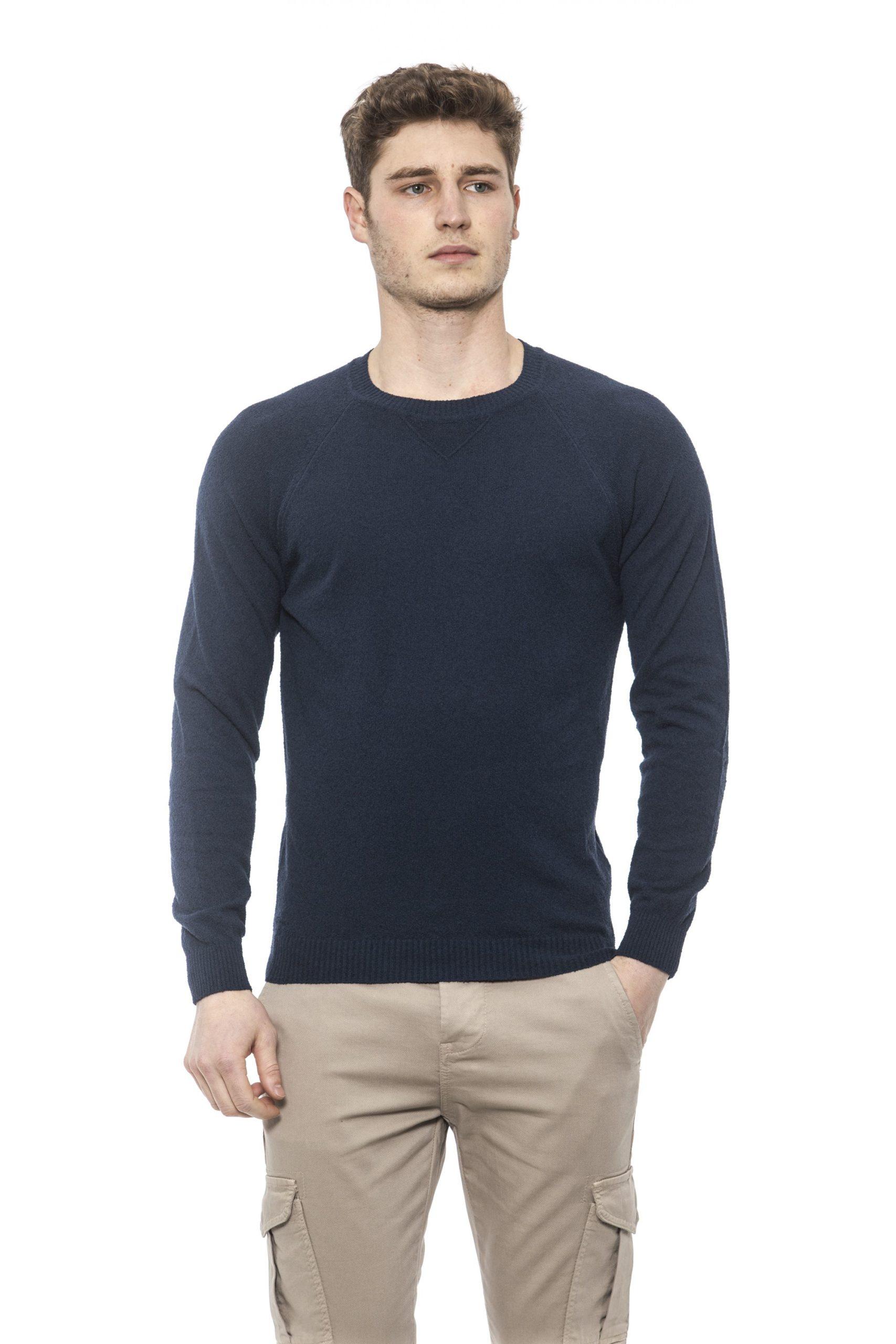 Alpha Studio Men's Notte Sweater Blue AL1374408 - IT48 | M