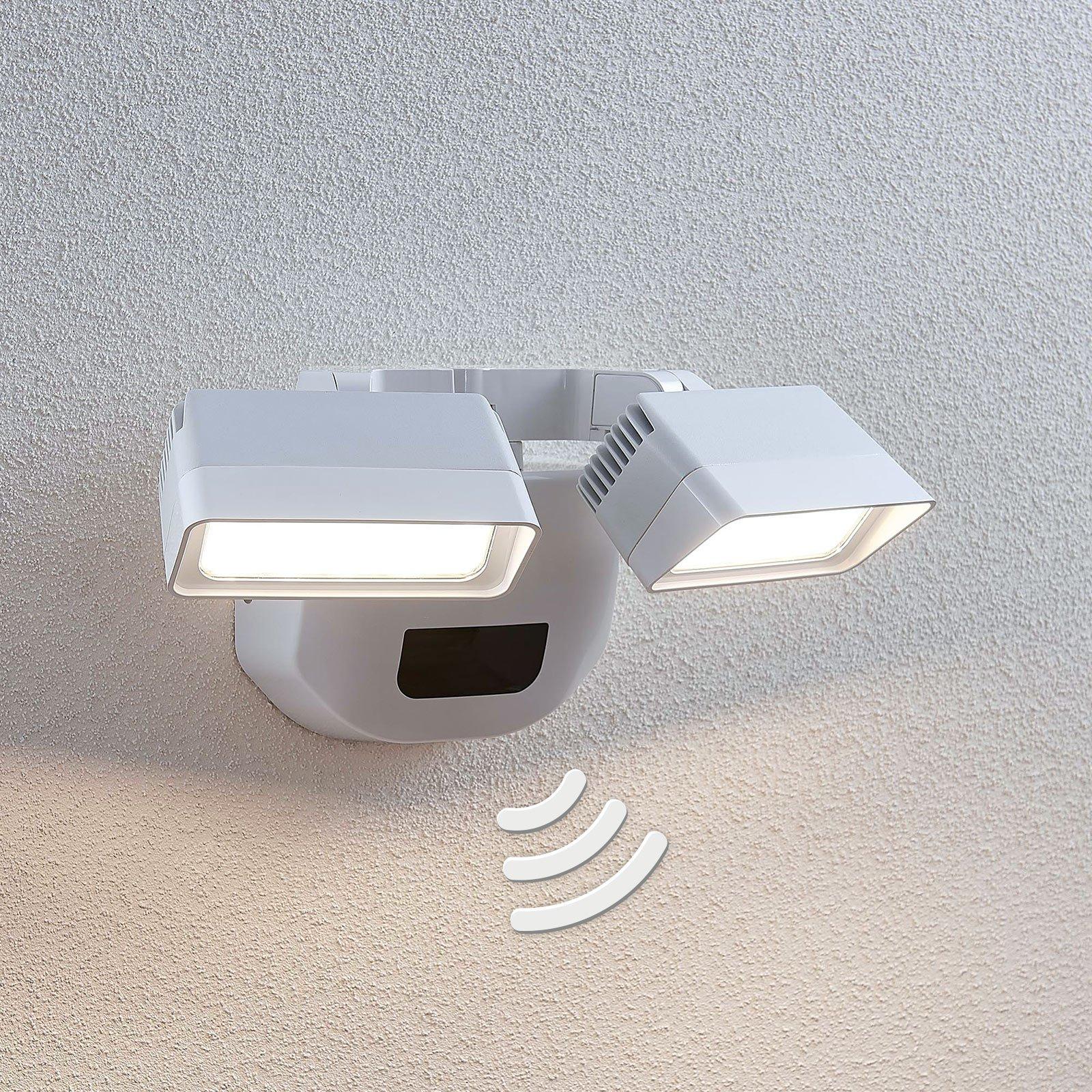 Utendørs LED-vegglykt Nikoleta, sensor 2 lyskilder