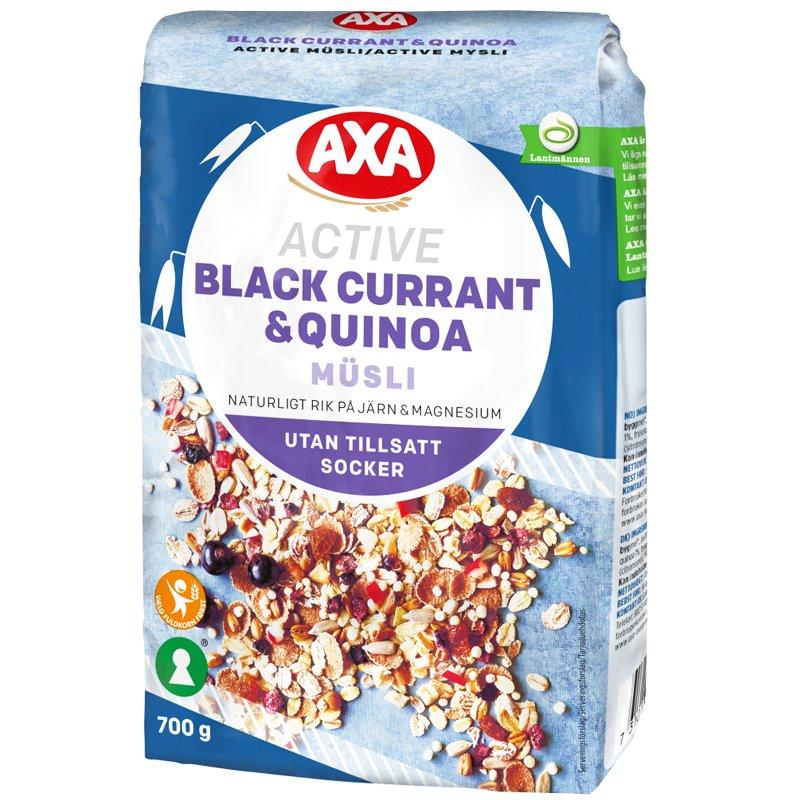 "Mysli ""Black Currant & Quinoa"" 700 g - 24% alennus"