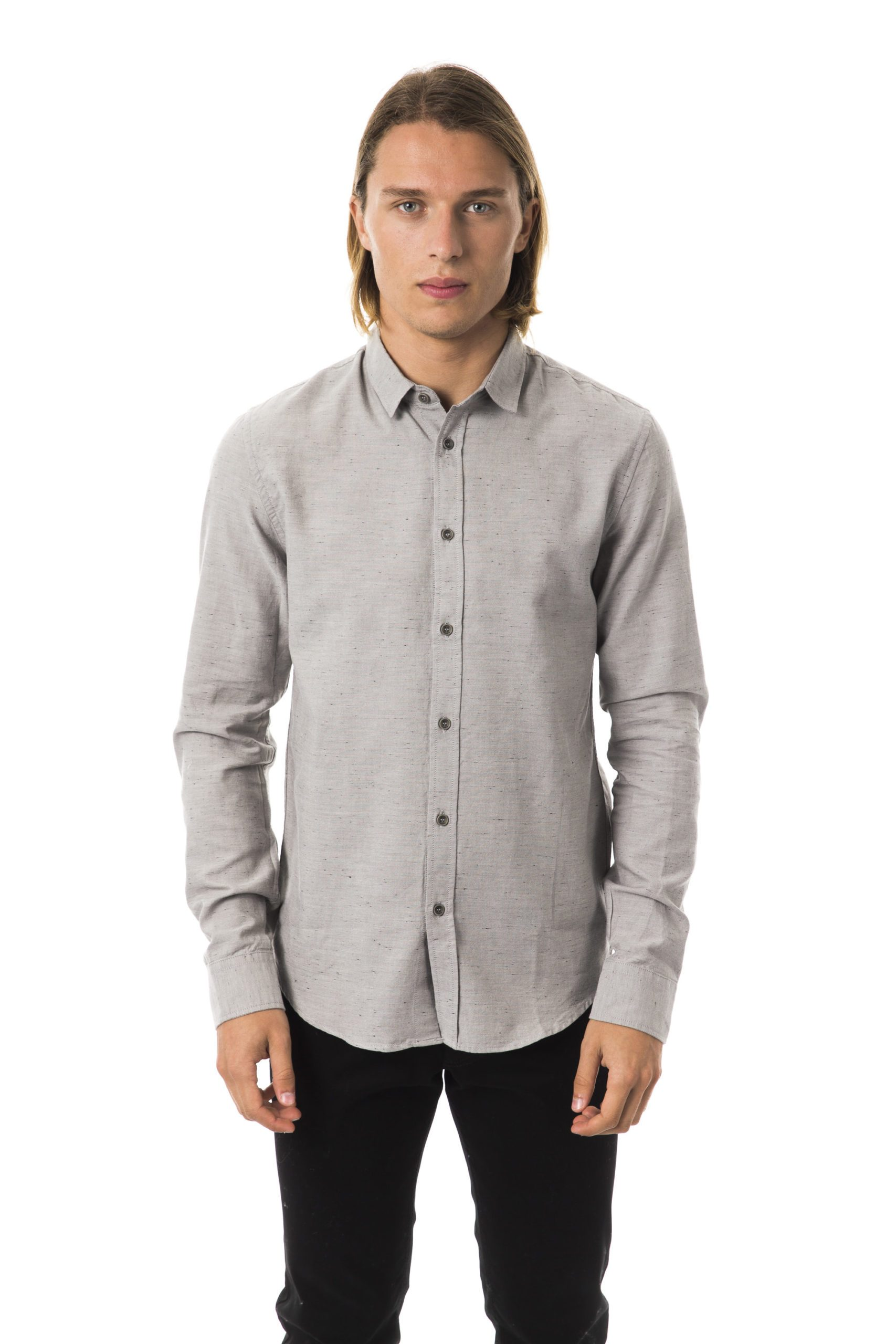 BYBLOS Men's Mastice Shirt Gray BY1394846 - M