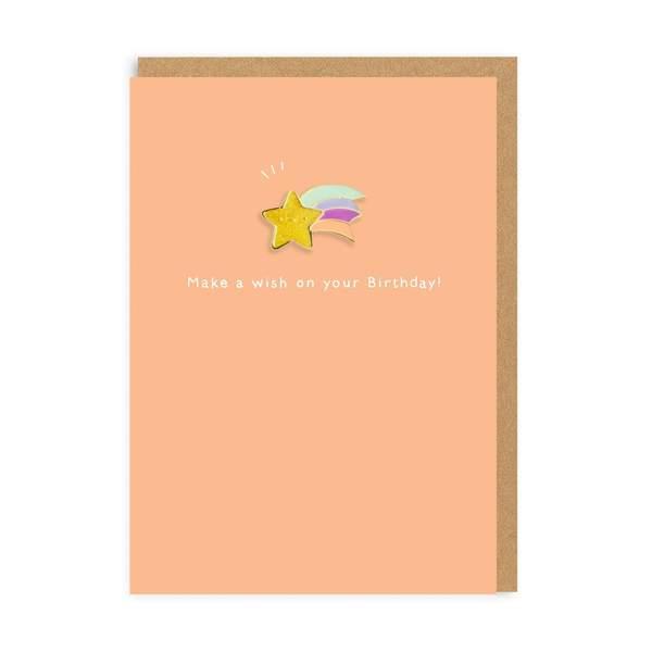 Make A Birthday Wish Enamel Pin Birthday Greeting Card