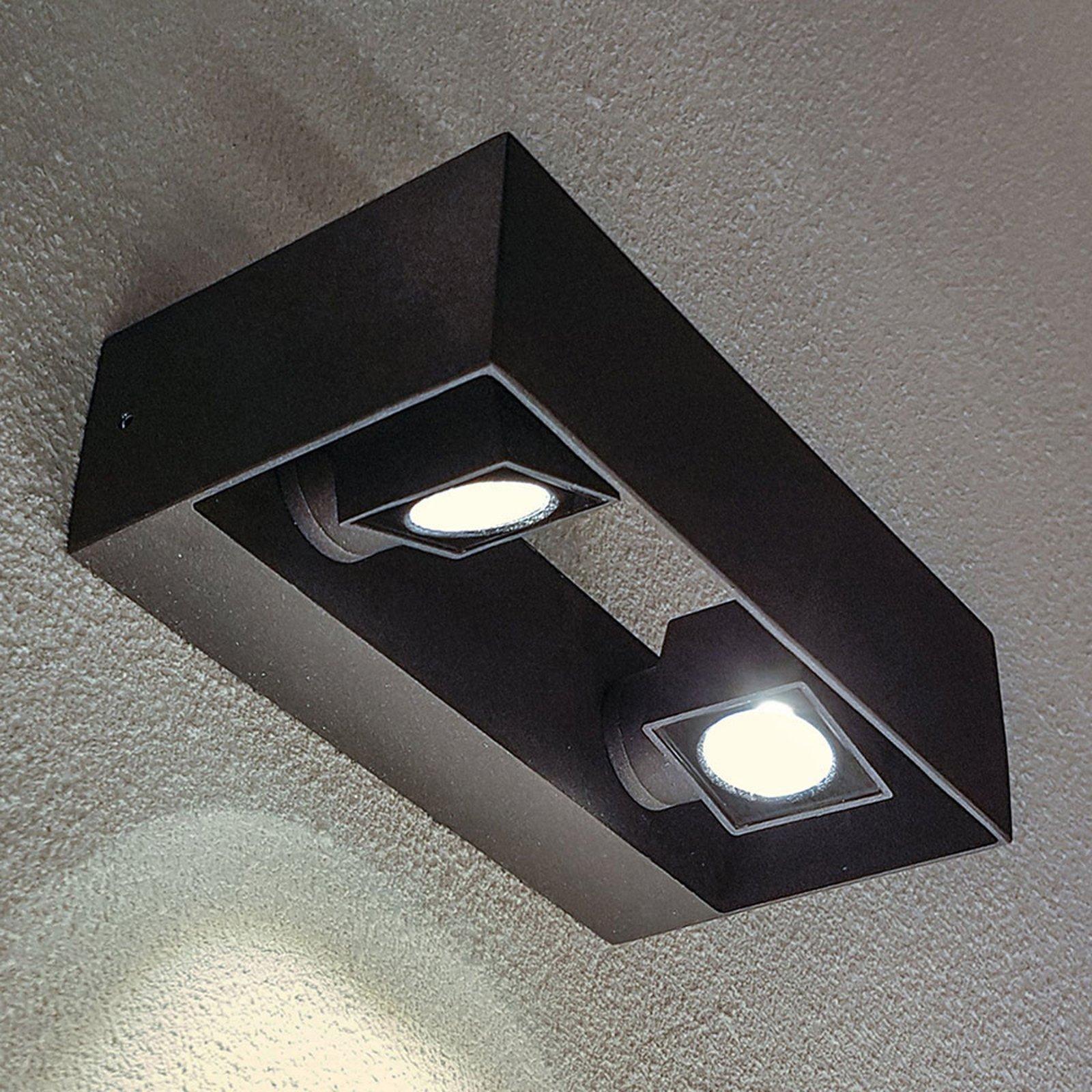Utendørs LED-vegglampe Vigo, 2 lyskilder