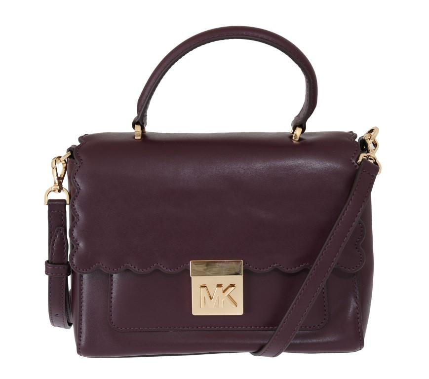 Michael Kors Women's MINDY Satchel Bag Purple MK5011