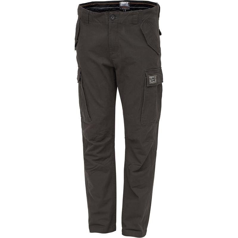 Savage Gear Cargo Trousers S Gråbrun - Simply Savage
