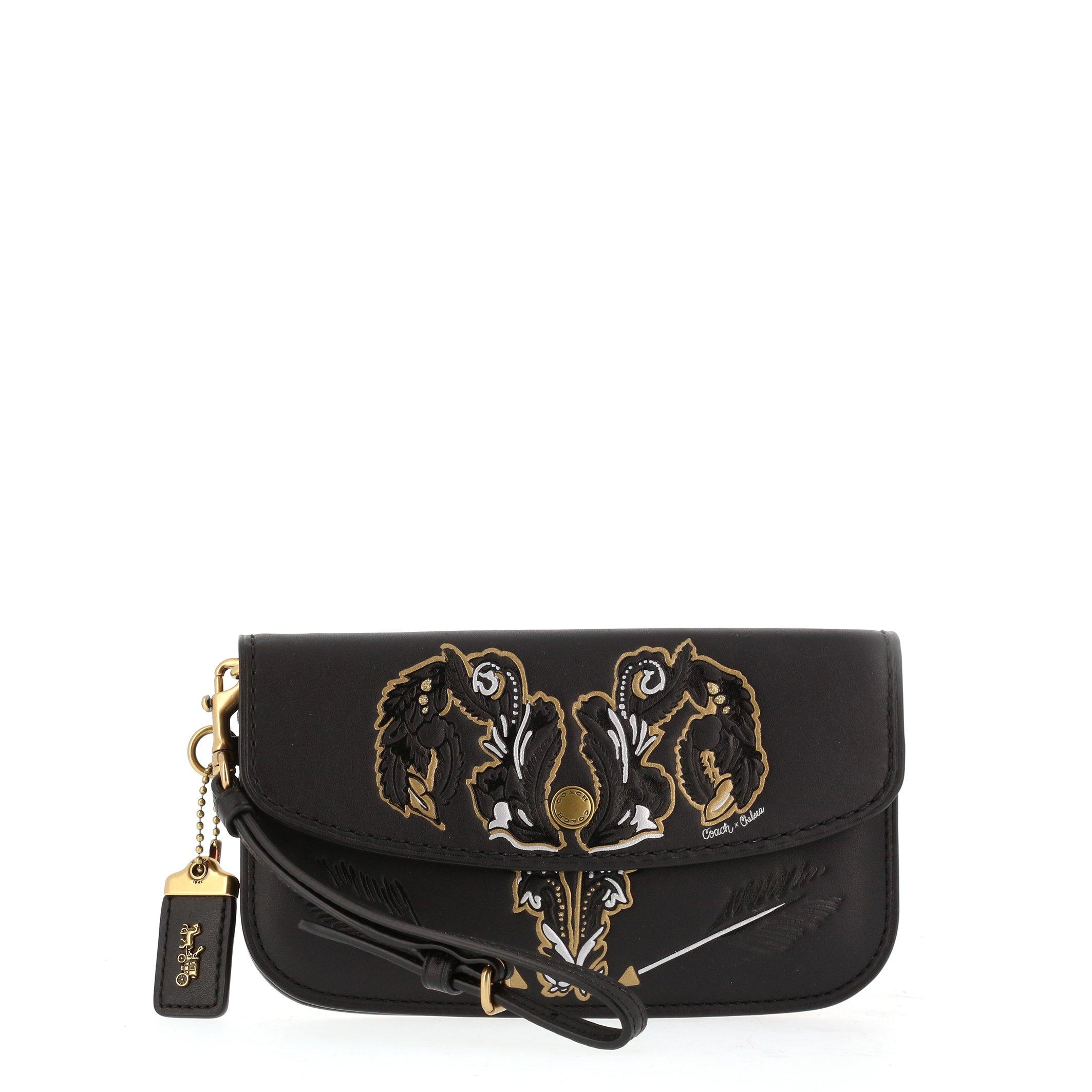 Coach Women's Clutch Bag Various Colours 37370 - black NOSIZE