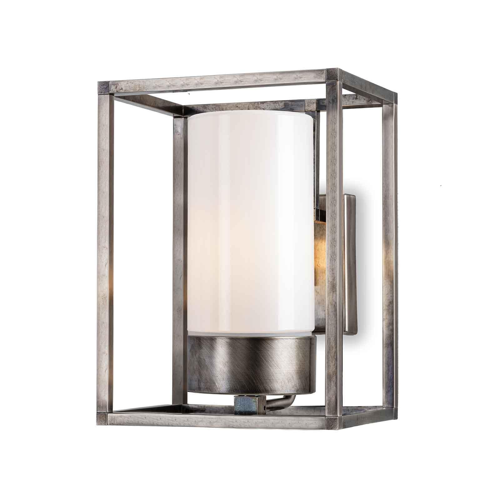 Cubic³ 3363 utendørs vegglampe antikk nikkel/opal