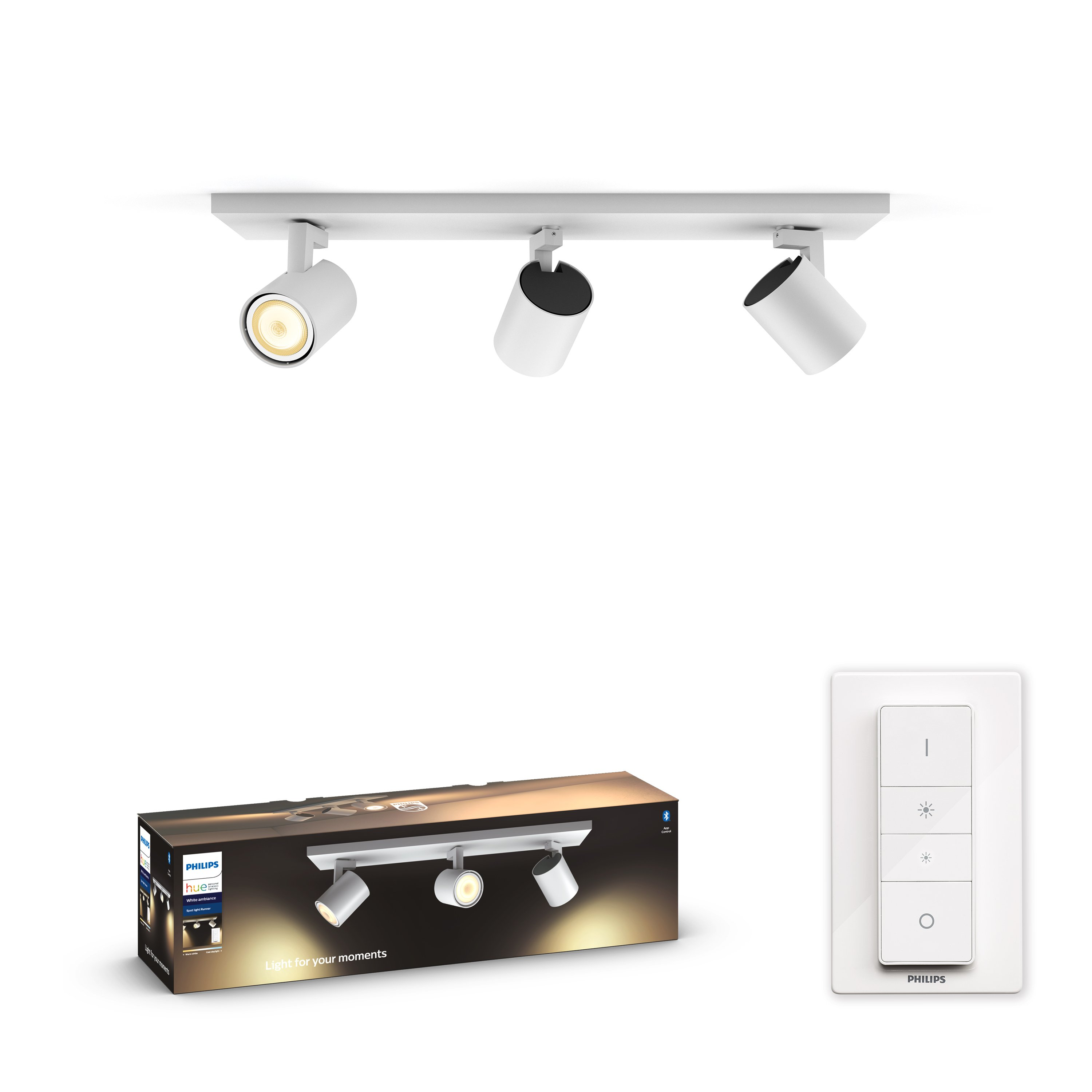 Philips Hue - Connected Runner 3-Spot Light - White Ambience - Bluetooth