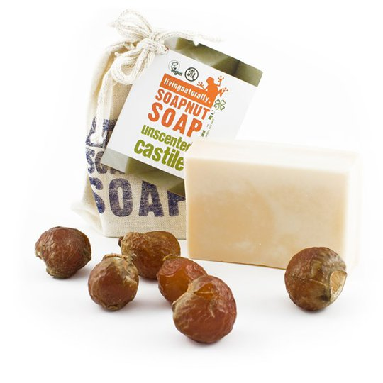 Living Naturally Unscented Soapnut Soap, 90 g