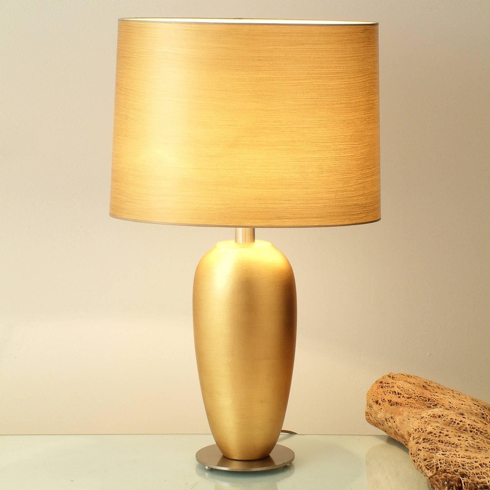 Klassisk EPSILON gull bordlampe, høyde 65 cm