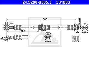 Jarruletku, Etuakseli, vasen, NISSAN X-TRAIL, 46210-8H305