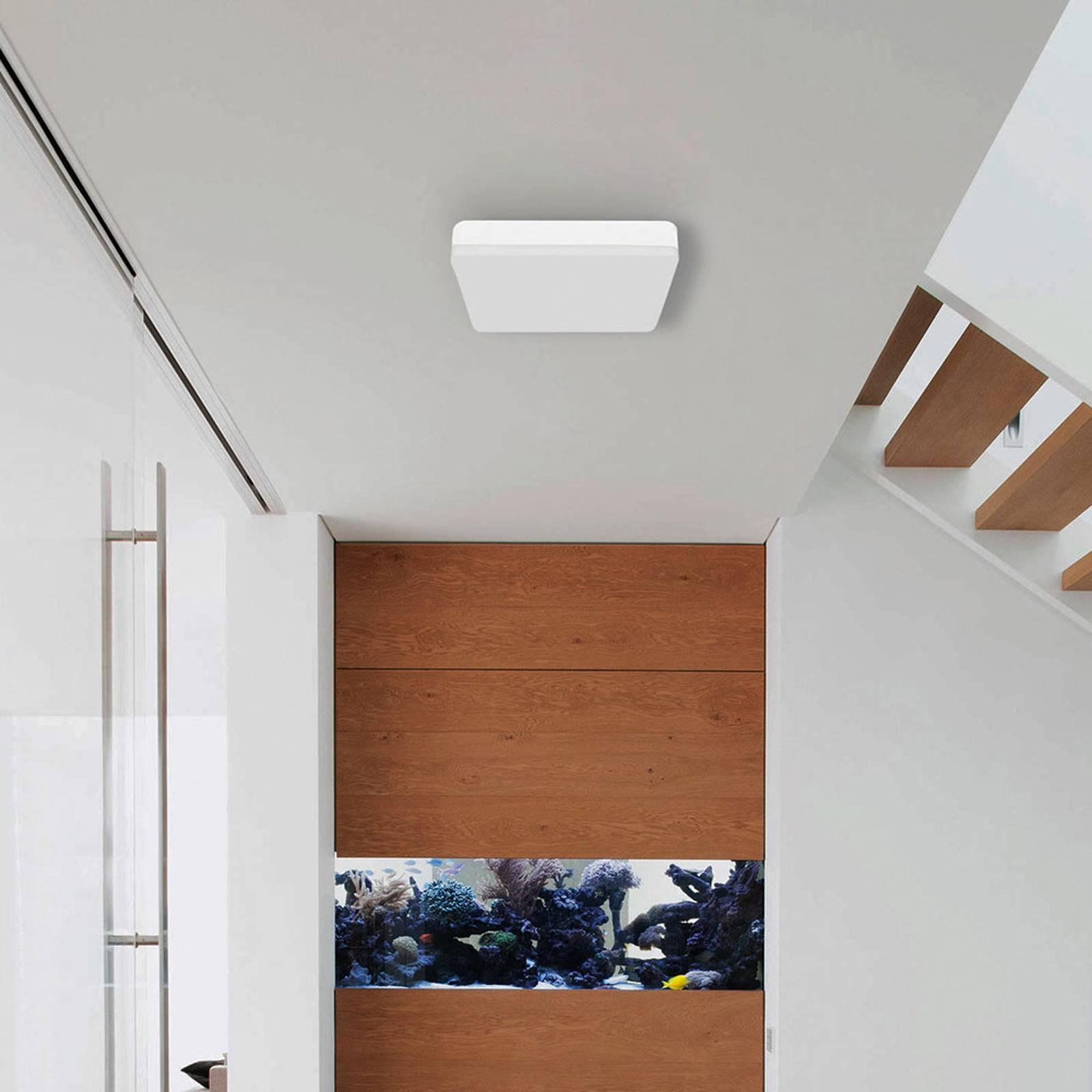 Kylpyhuoneen LED-kattolamppu Square tunnistimella