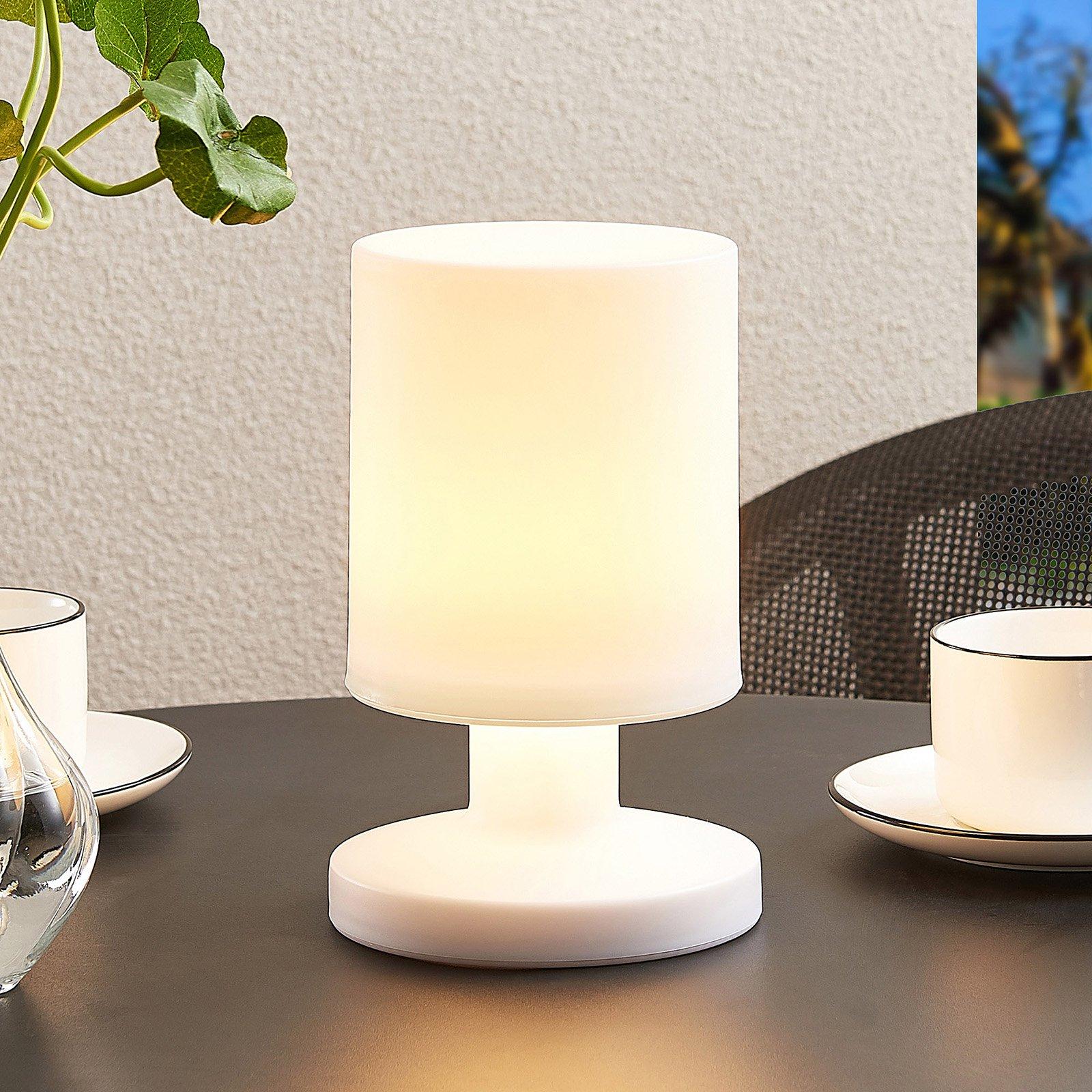 Lindby Grisella LED-bordlampe med batteri, IP44