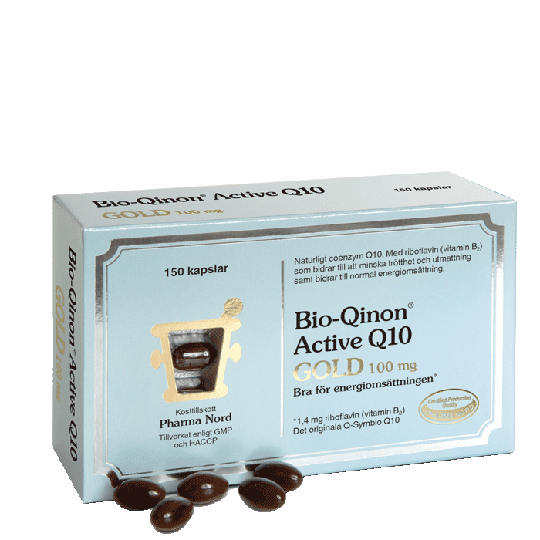 Bio-Qinon Active Q10 Gold 100 mg, 150 kapslar