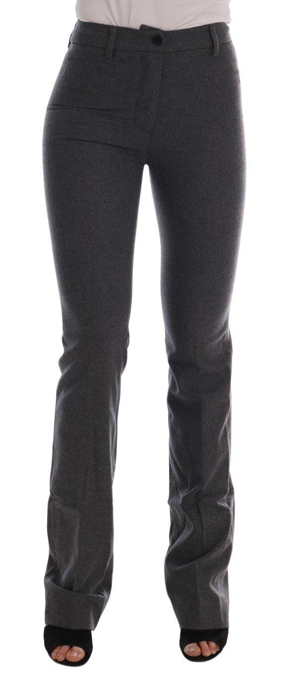 Ermanno Scervino Women's Slim Fit Trouser Grey BYX1157 - IT38 XS