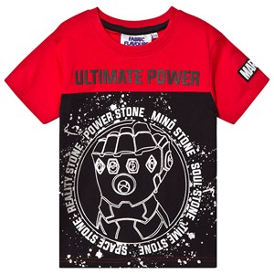Fabric Flavours Avengers Infinite Power T-shirt Red/Black 5-6 years