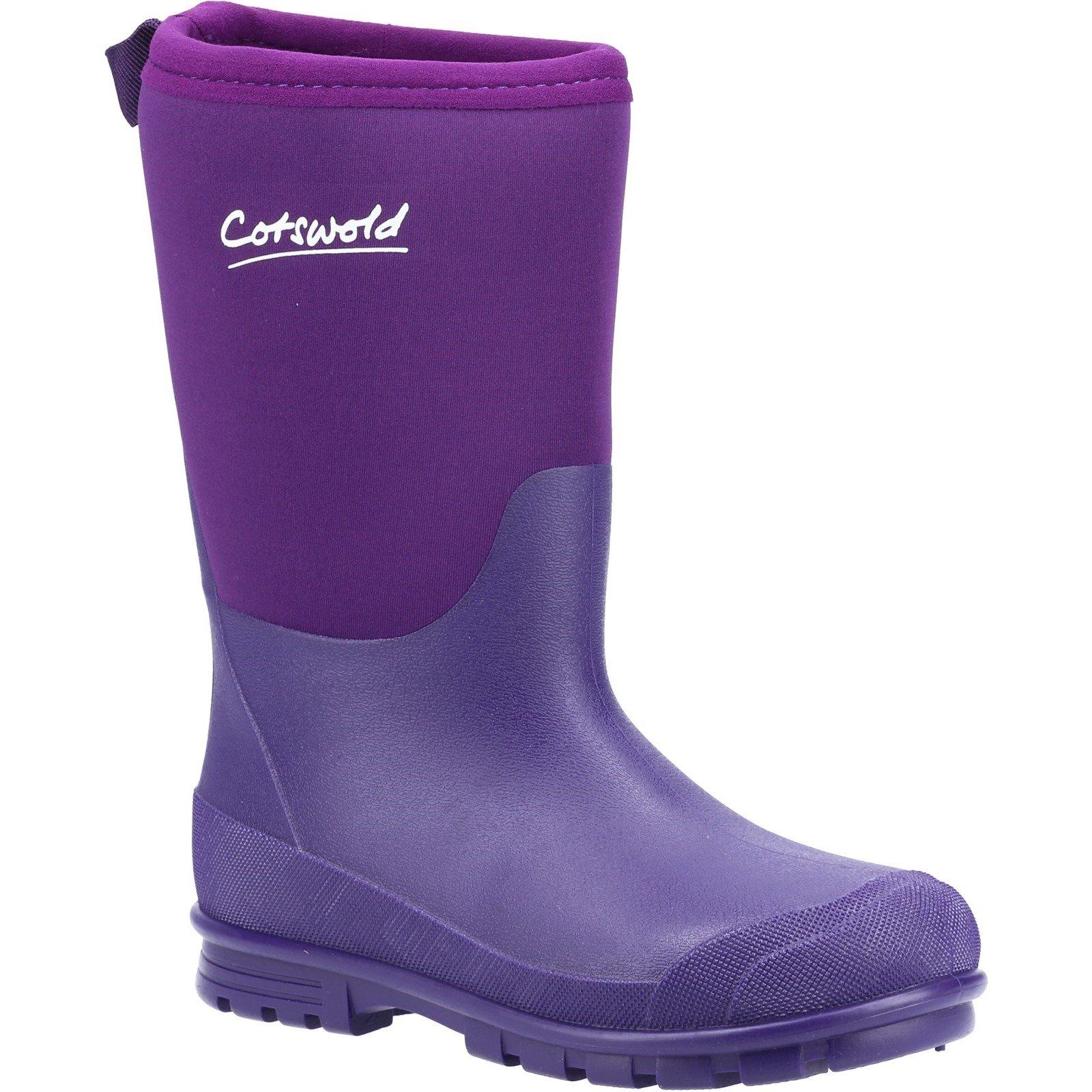 Cotswold Unisex Hilly Neoprene Wellington Boot Purple 31492 - Purple 10