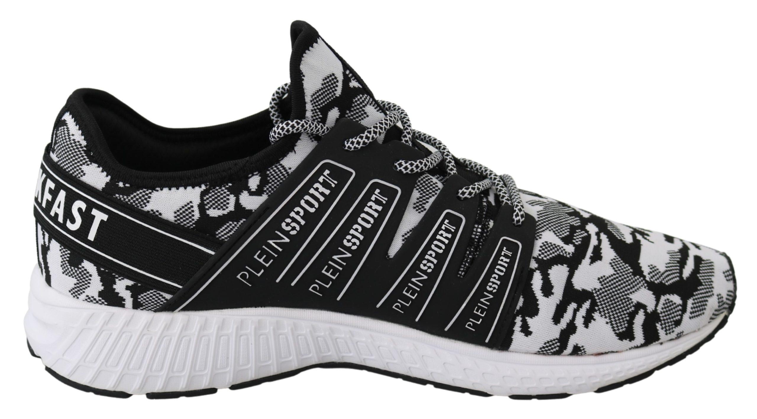 White Polyester Runner Backside Sneakers Shoes - EU41/US8