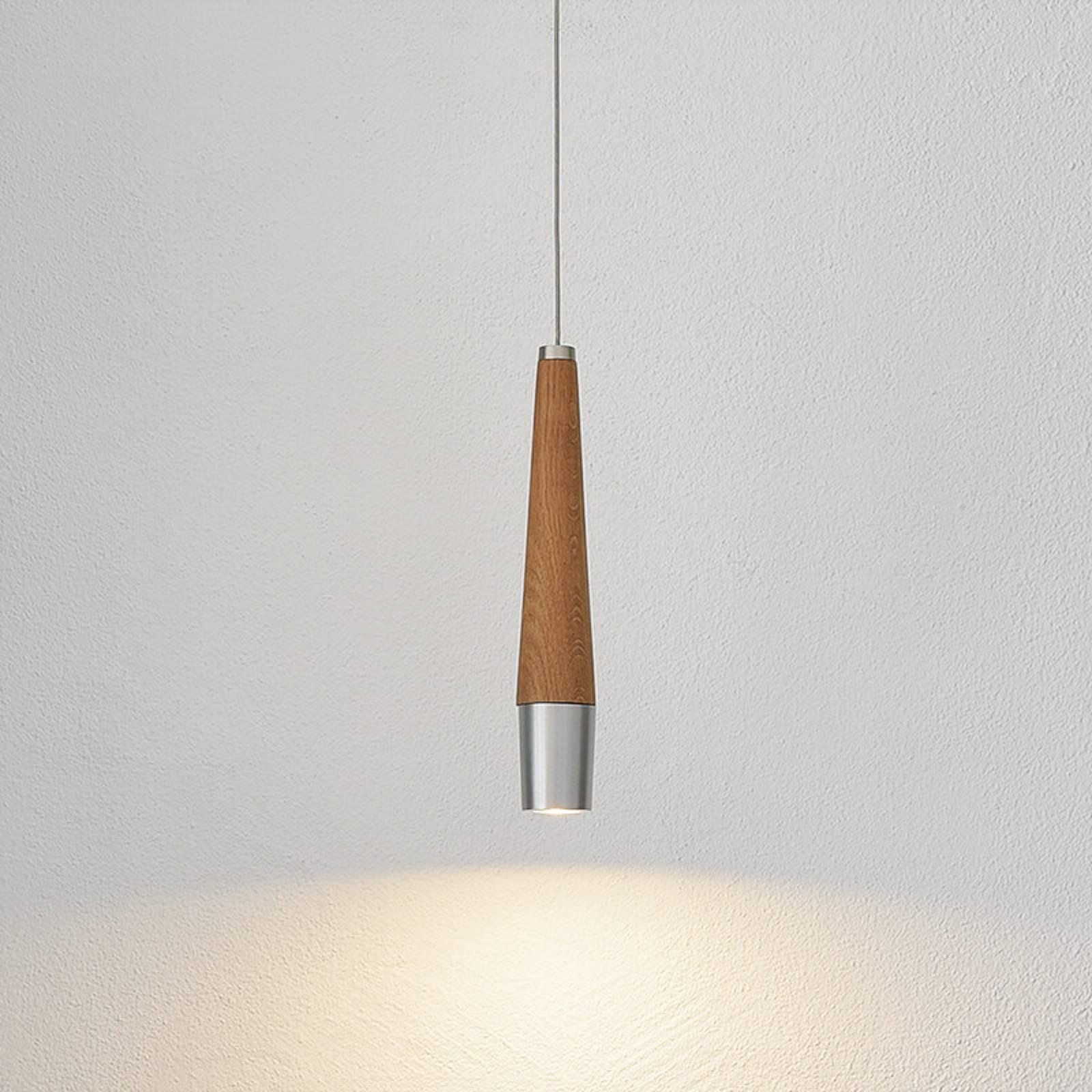 HerzBlut Conico -riippuvalo, tammi, 1-lamppuinen