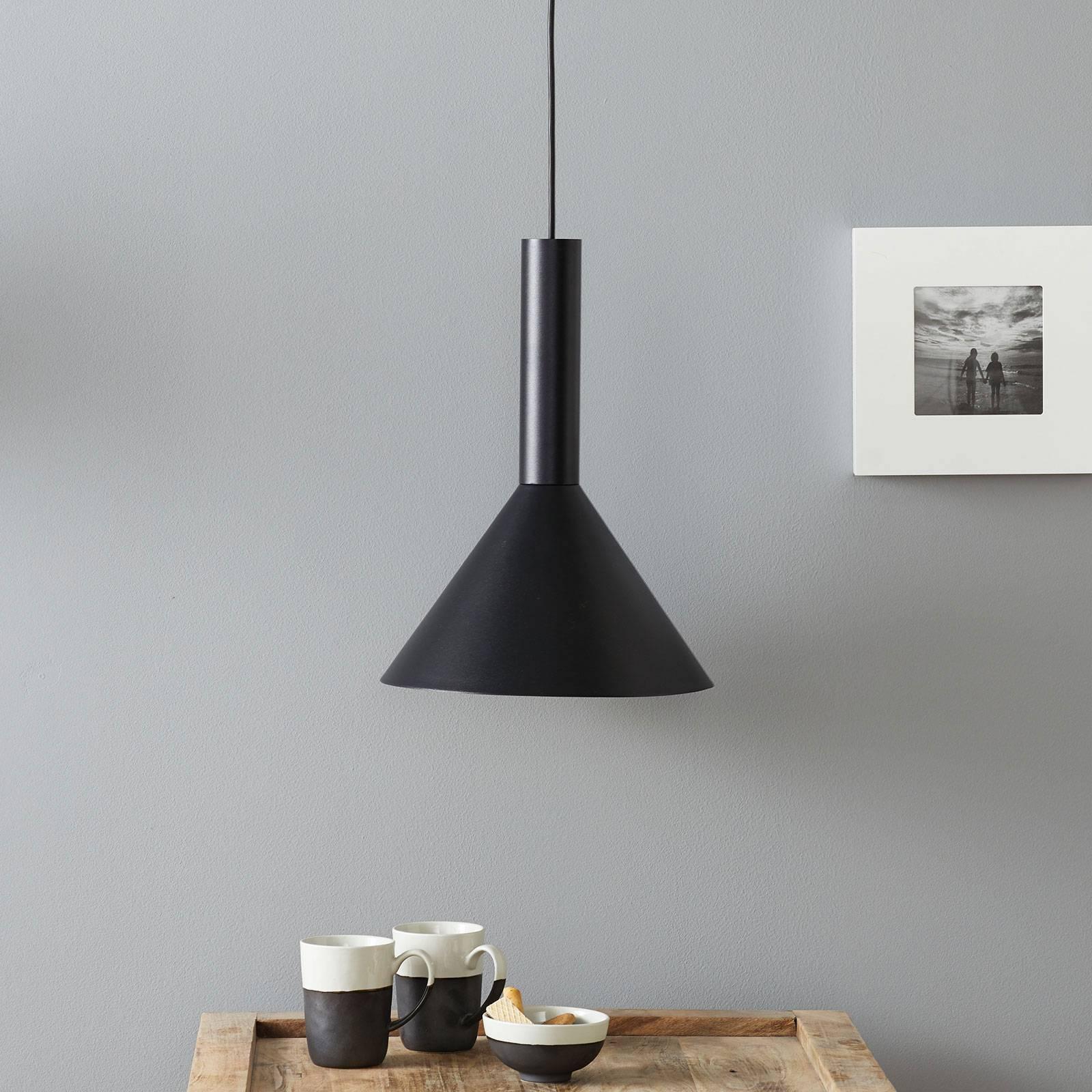 Lucande Caris -riippuvalaisin Ø 30 cm musta/kulta