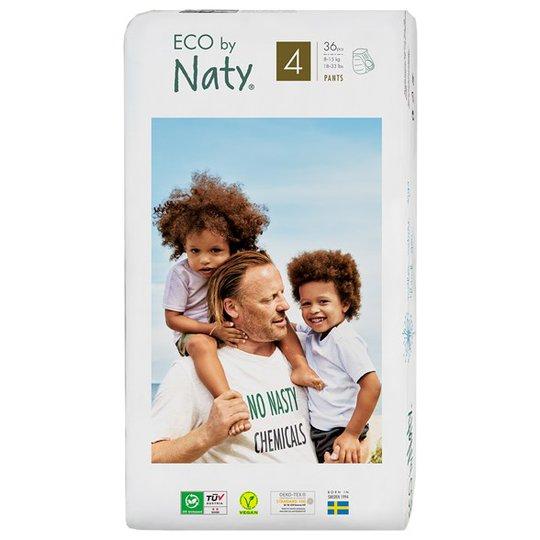 Naty Miljövänliga Blöjbyxor - Storlek 4 (8-15 kg), 36 st