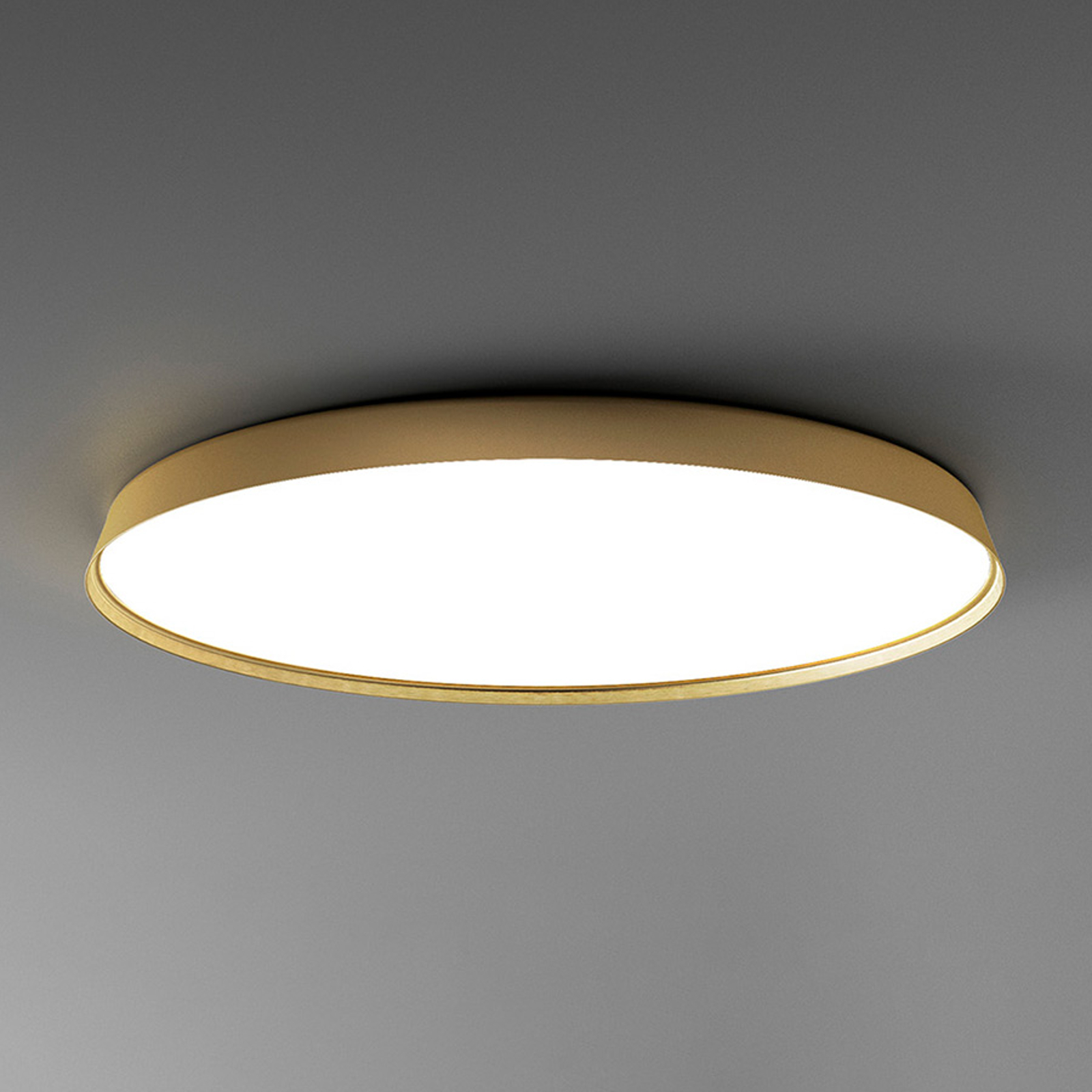 Luceplan Compendium Plate -LED-kattovalo messinki