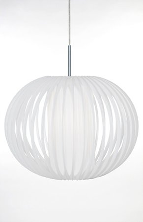 Pendel Plastbånd XL Hvit / Krom