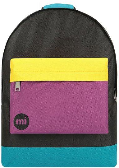 Mi-Pac Classic Colour Block Ryggsekk, Black/True Plum