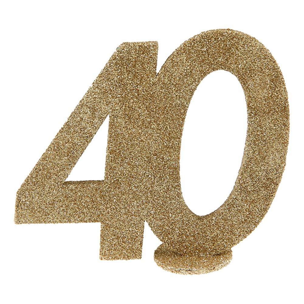 Bordsdekoration Siffra Guld/Glitter - Siffra 40