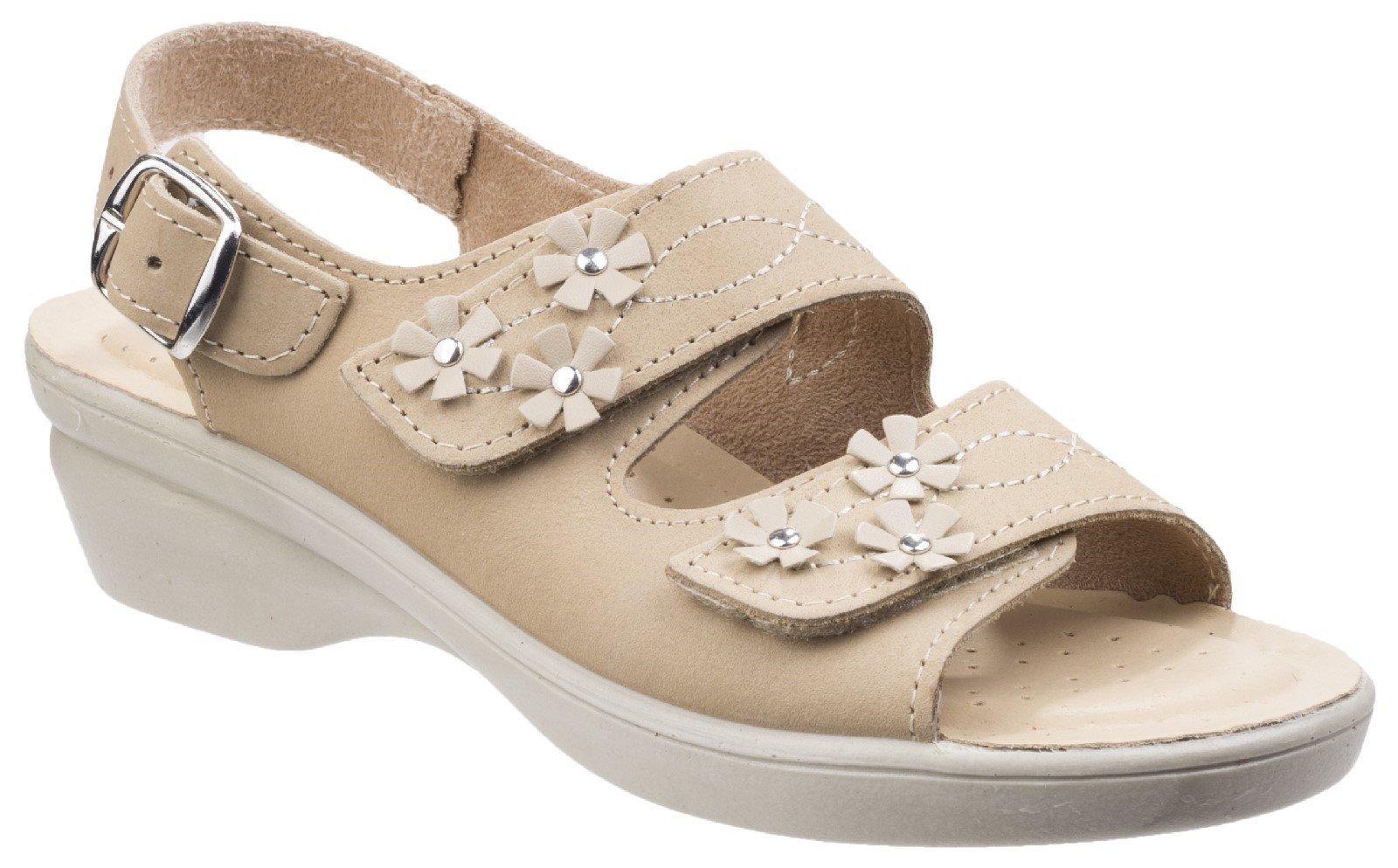 Fleet & Foster Women's Amaretto Touch Fastening Sandal Various Colours 26298 - Beige 3
