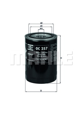 Öljynsuodatin KNECHT OC 257