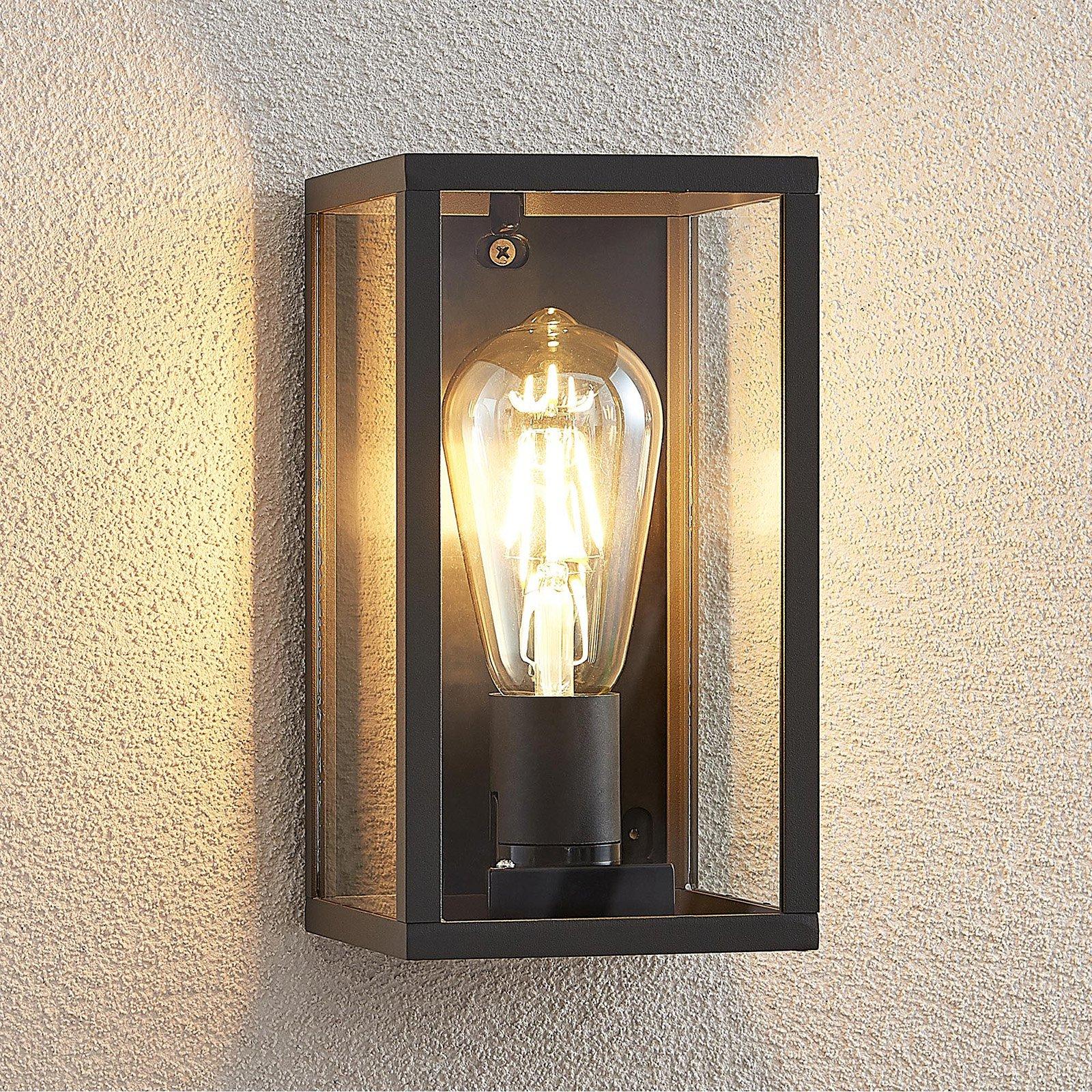 Lindby Filimon utendørs vegglampe i mørkegrå, E27