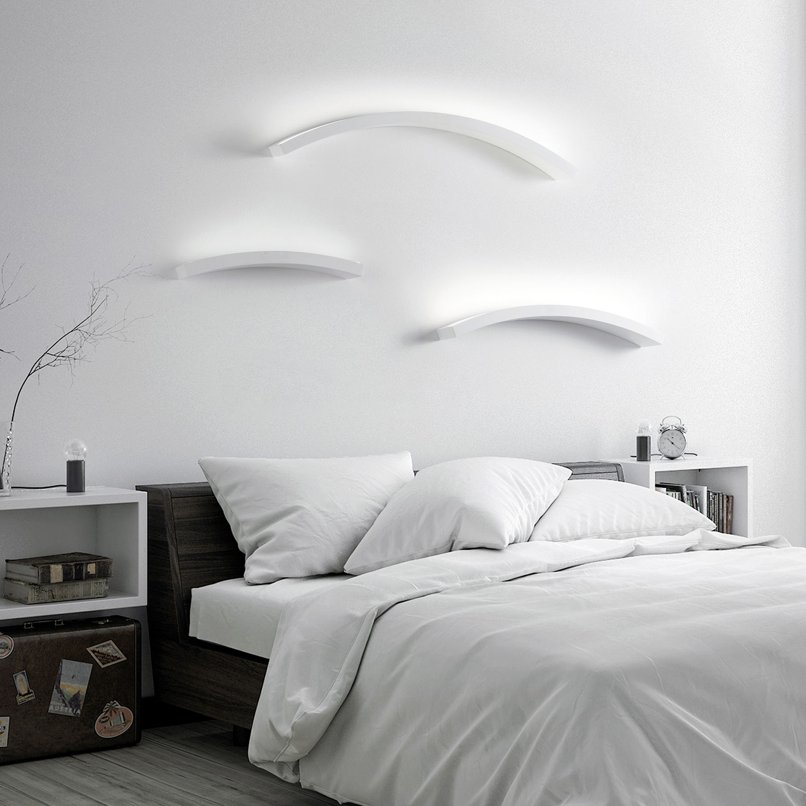 LED-seinävalaisin Melossia, ylös säteilevä, 76,5cm
