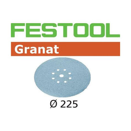 Festool STF GR Hiomapaperi 225mm, 8-reikäinen, 25 kpl P180
