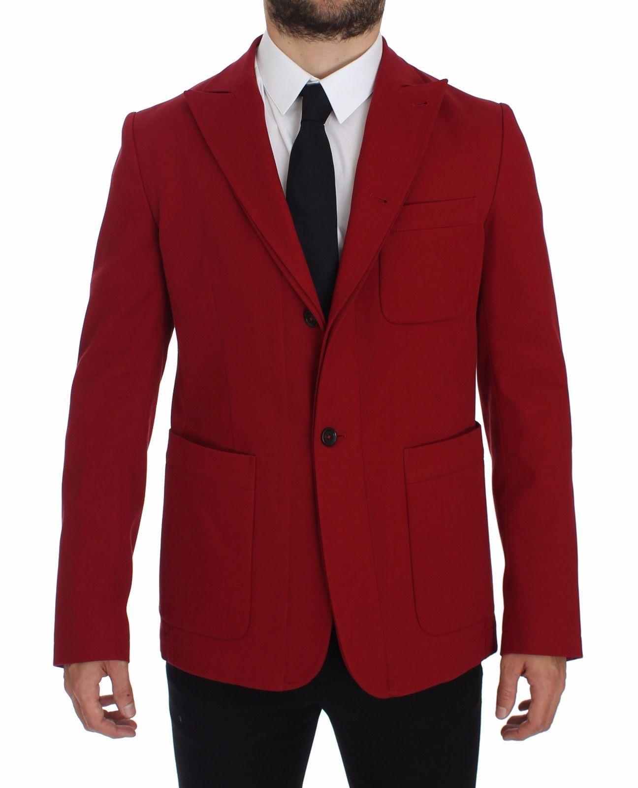 Dolce & Gabbana Men's Cotton Stretch Blazer Red GTT10106 - IT50   L
