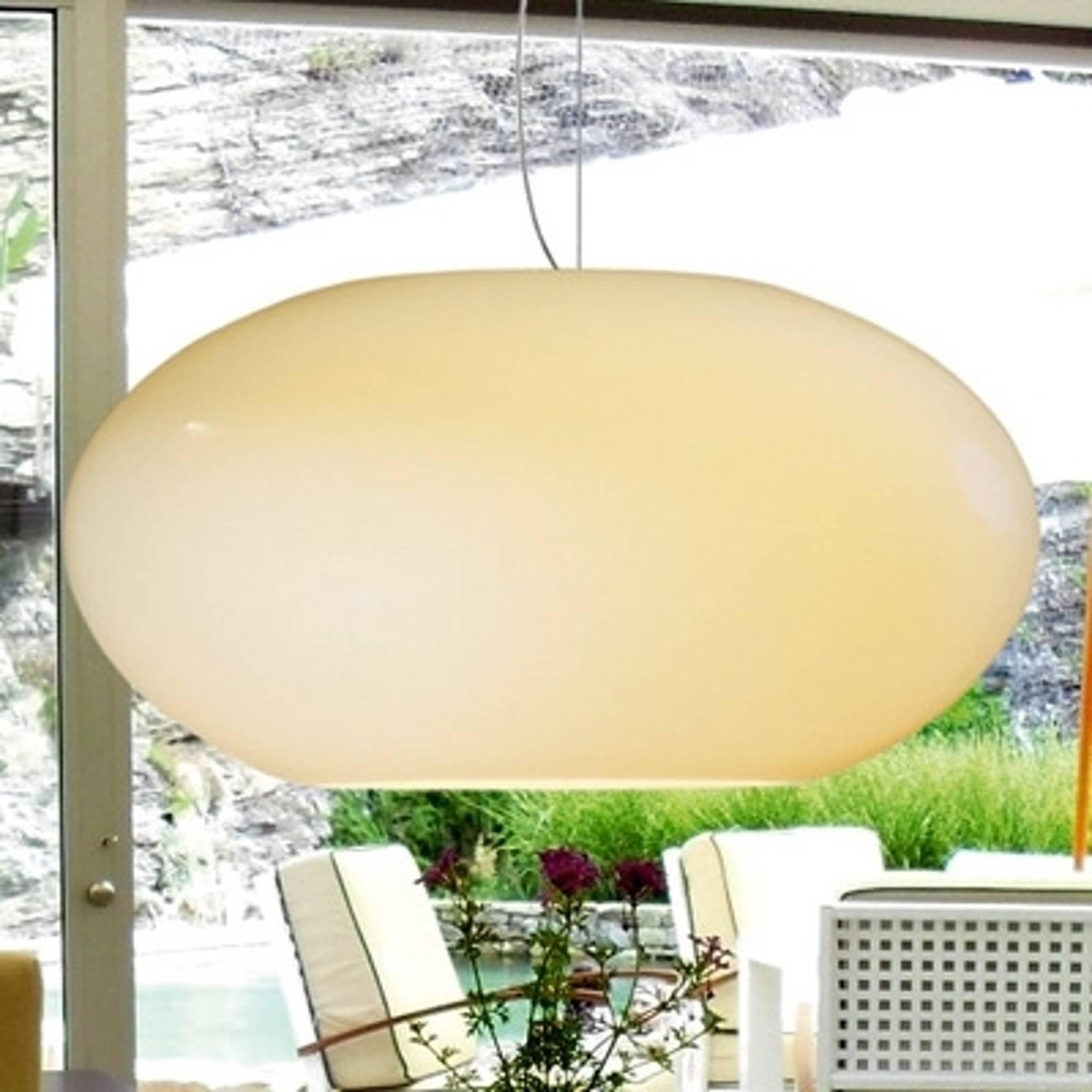AIH-riippuvalaisin lasia 38 cm, kiiltävä kerma