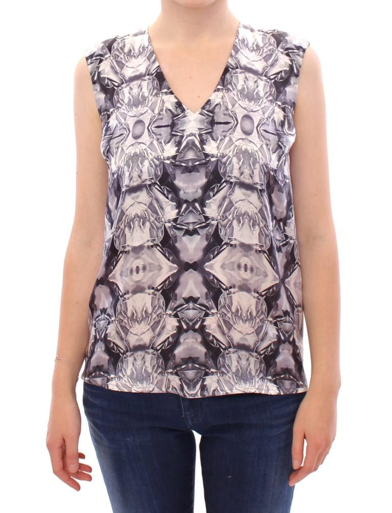 Arzu Kaprol Women's Silk Sleeveless Top Multicolour GSS10331 - IT40|S