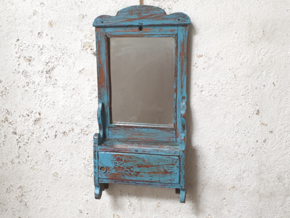 Vintage Blue Mirror Blue