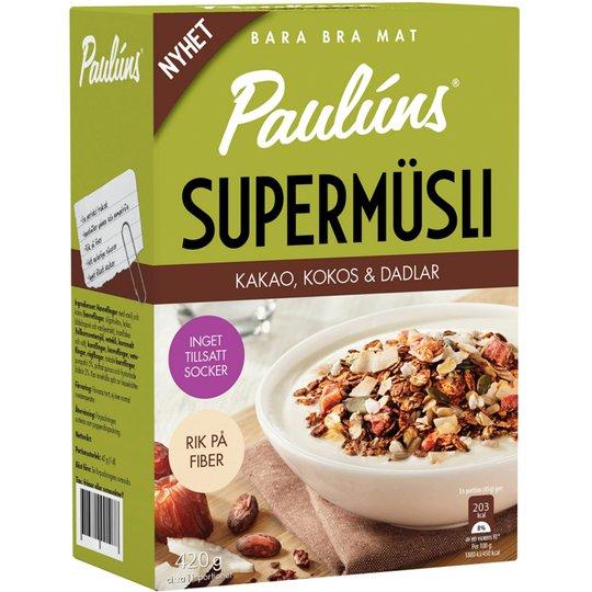 Müsli Kakao, Kokos & Dadlar 420g - 34% rabatt