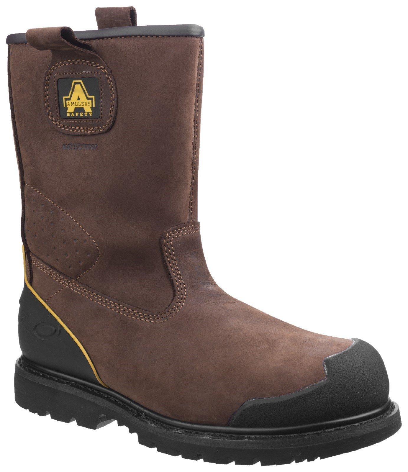 Amblers Unisex Safety Goodyear Waterproof Pull on Industrial Boot Brown 20431 - Brown 6
